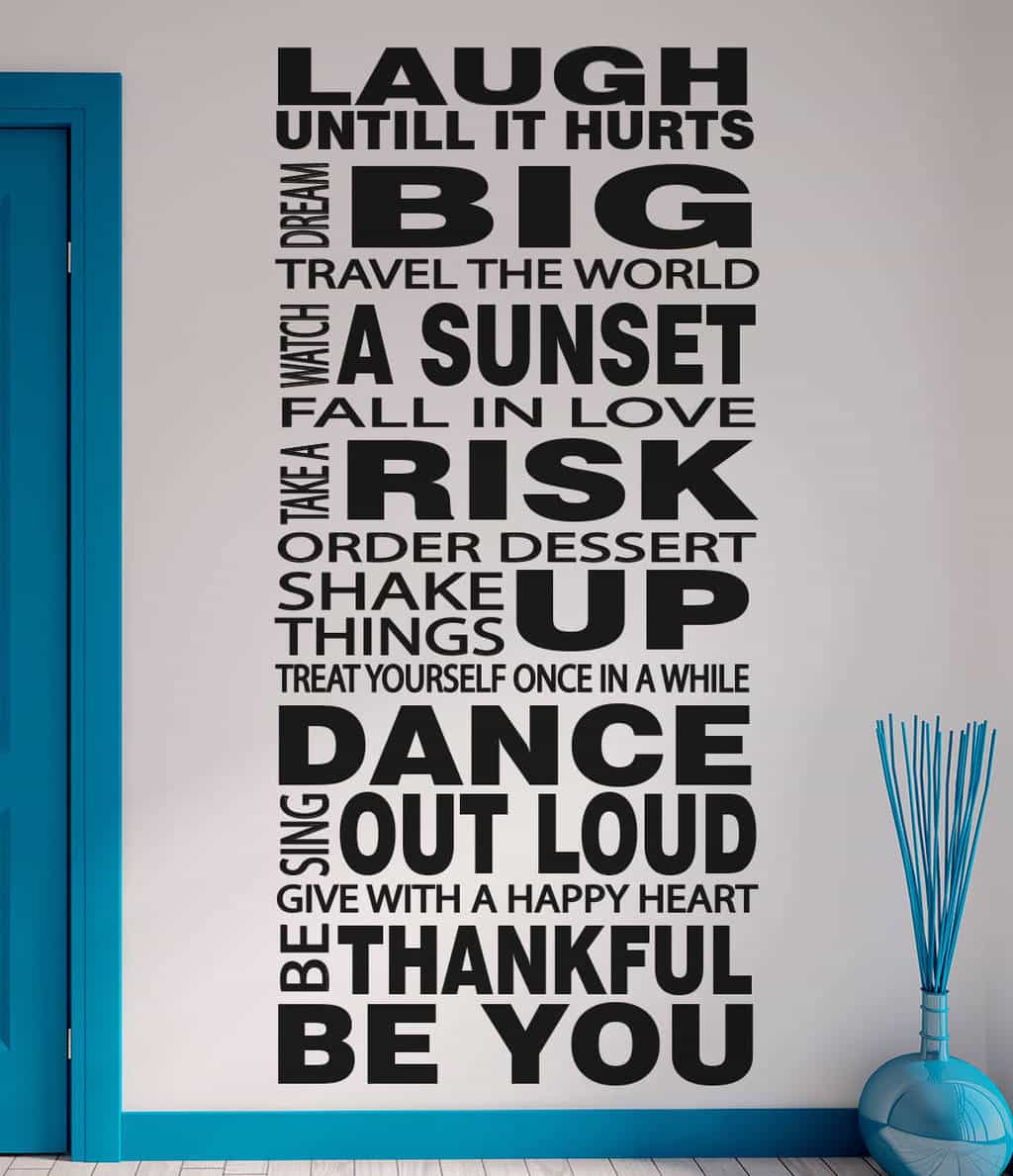 Life Rules wall decal sticker