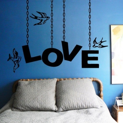 Love chain wall decal sticker