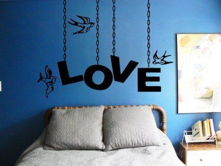 Love chain wall decal sticker