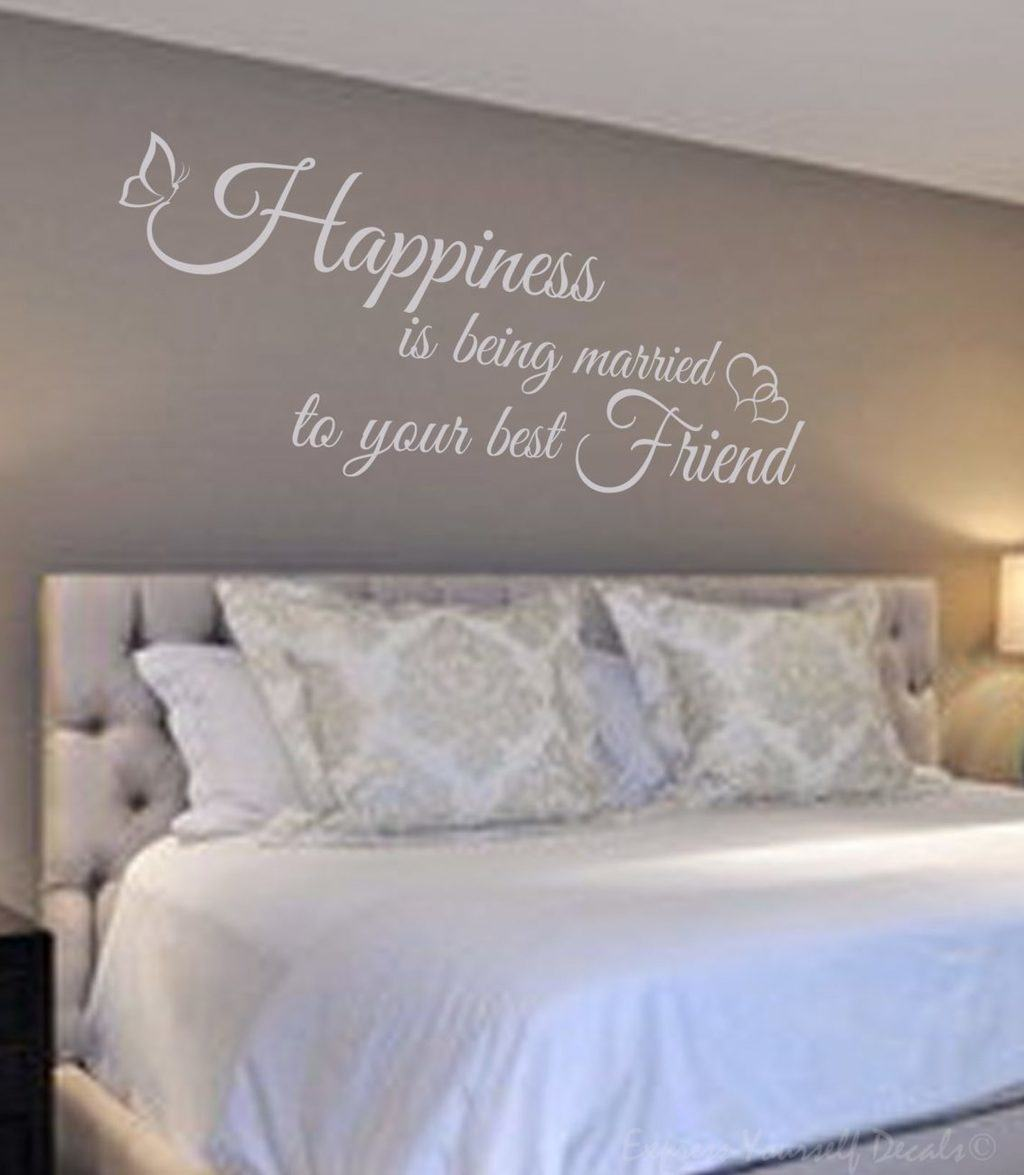 Married to my best friend wall decal