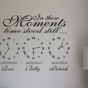 Memory Clocks Date of birth memory clock decal wall stickers