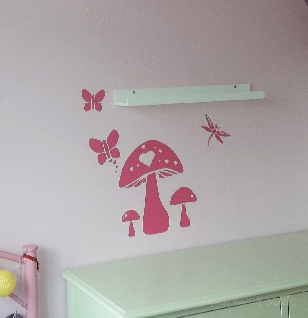 Mushroom wall decal sticker