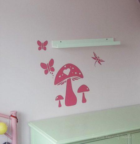 Mushroom wall decal sticker