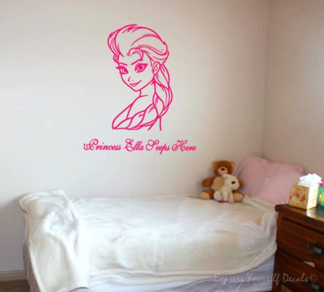 Princess sleeps here Frozen Elsa wall decal