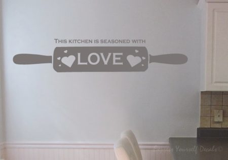 kitchen rolling pin wall decal