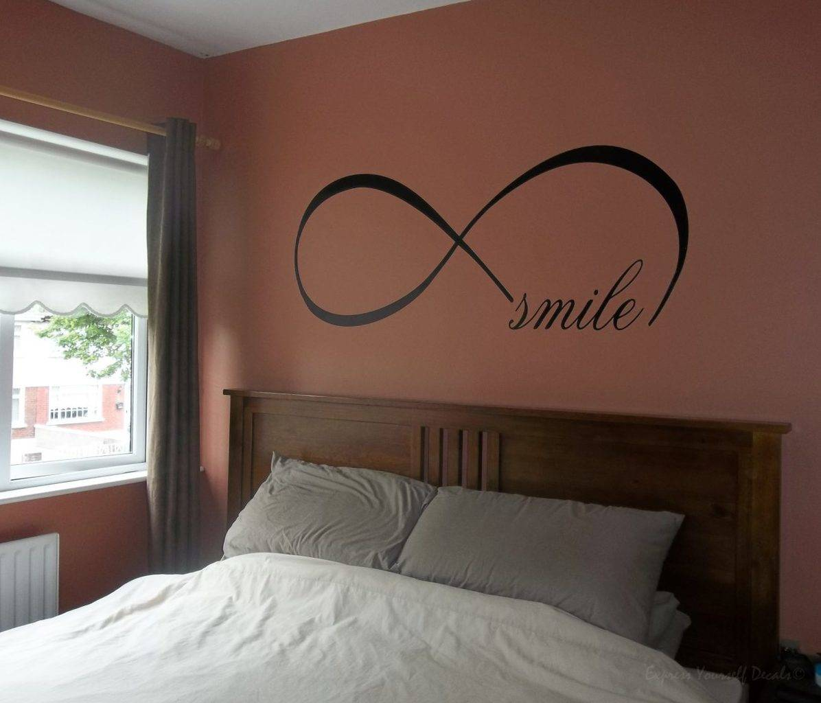 Infinity smile wall decal sticker