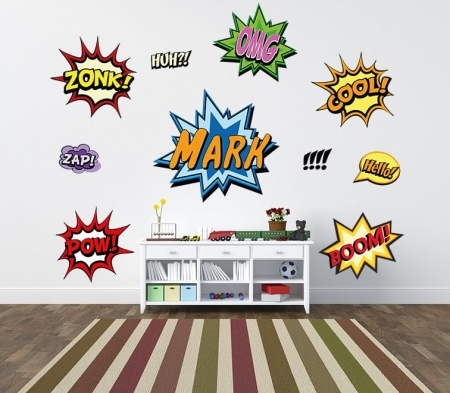Comic Book Exclamations Wall Decal Set