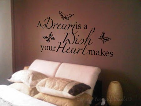 A dream is a wish wall decal sticker