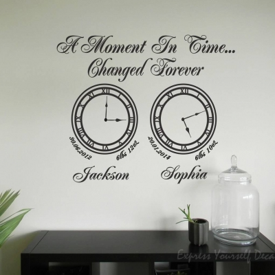 A moment in time clock wall art