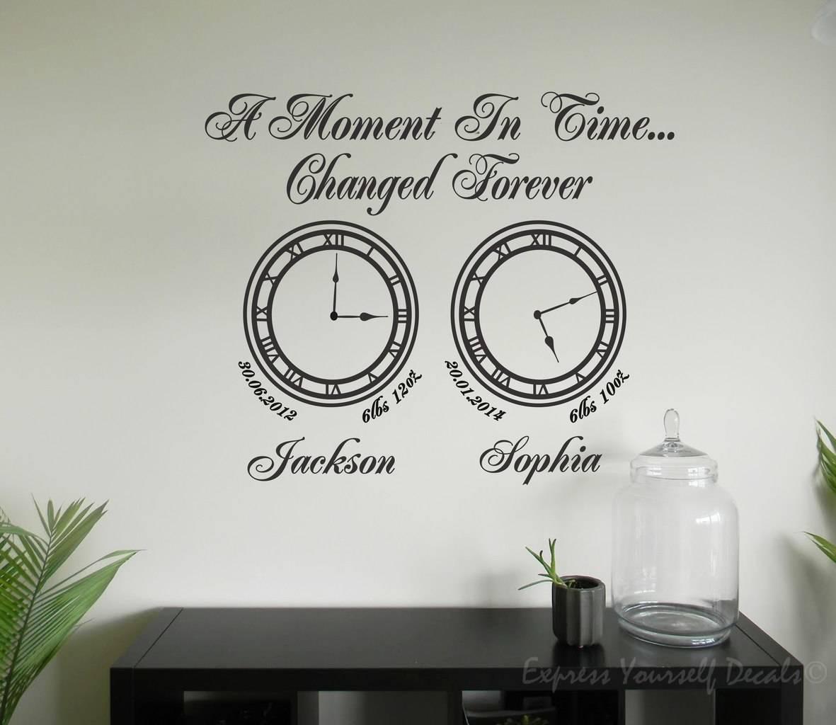 Clock Wall Art wall art decal memory clocks | a moment in time clock