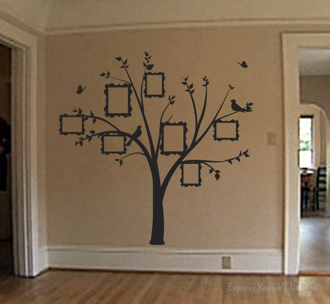 Family photo tree wall art decal