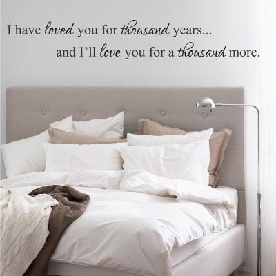 I have loved you wall decal