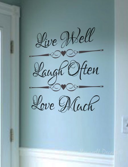 Live Well wall decal sticker