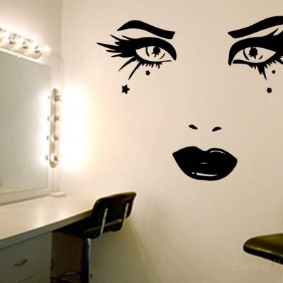 make-up wall art decal | wall art decal sticker