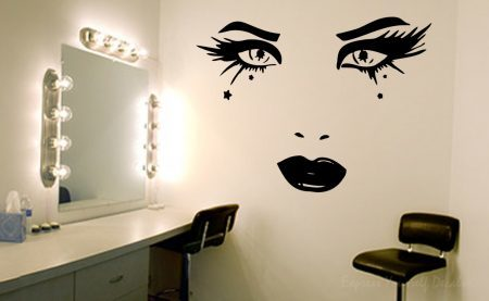 Beauty face wall art decal sticker
