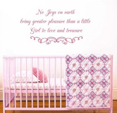 A little girl to love wall decal sticker
