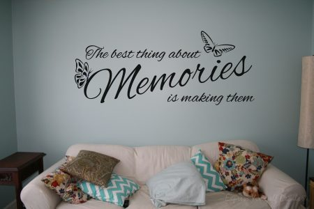 The best thing about memories wall decal