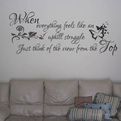 View from the top wall decal sticker