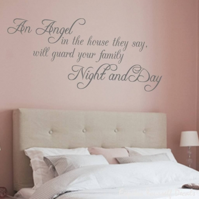An angel wall decal sticker