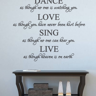 Dance Love Sing Live wall decal sticker
