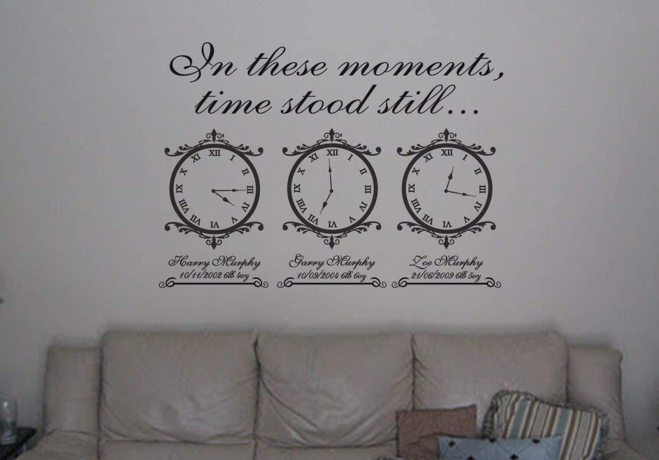 Memory clocks - wall art decal