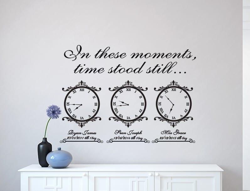 Time stood still memory clocks