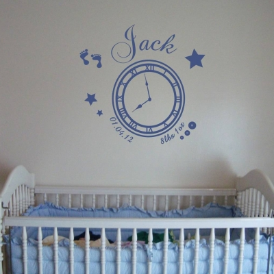 Memory clock (baby boy) - wall art decal
