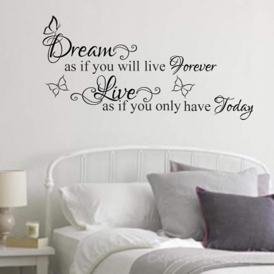Dream as if wall decal sticker