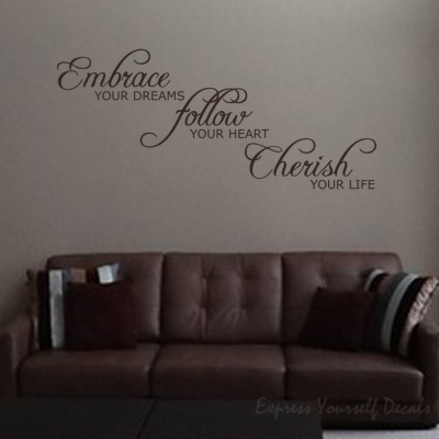Embrace your dreams wall decal sticker