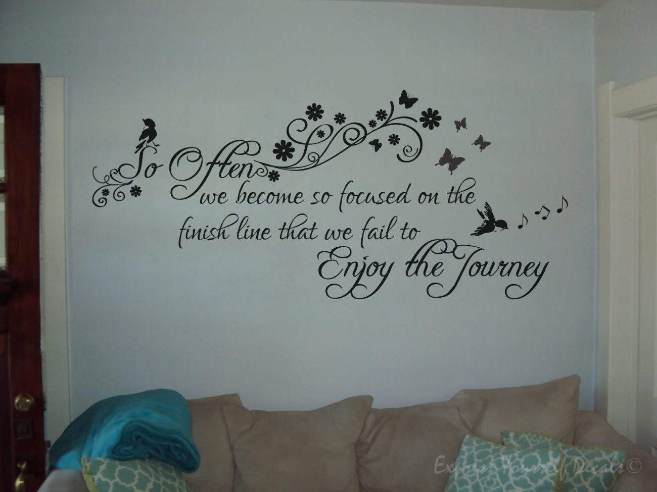 Enjoy the journey wall decal sticker