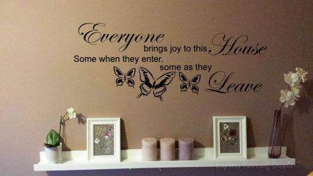 Everyone brings joy wall art decal