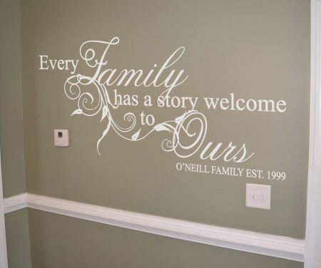 Family story personalised wall art decal | wall art decal sticker
