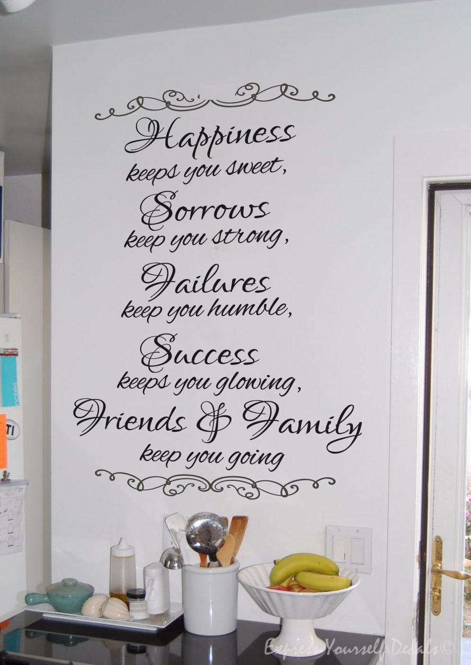 Happiness keeps you sweet wall decal sticker