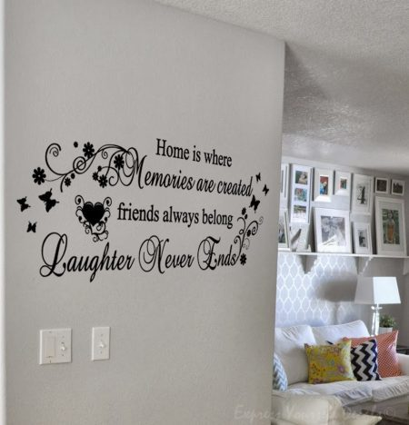 Home is where wall art decal