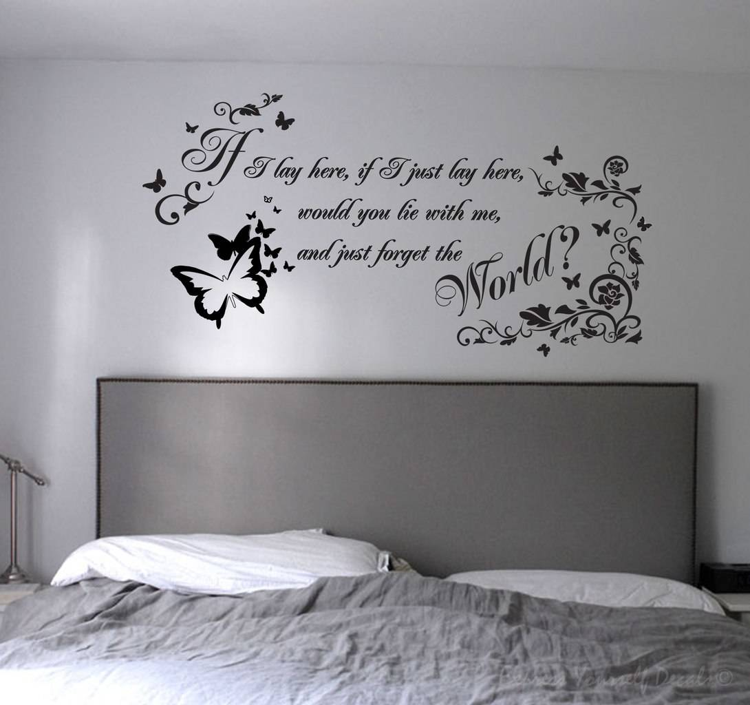 If I Just Lay Here Wall Decal Sticker, If I Just Lay Here Wall Decal