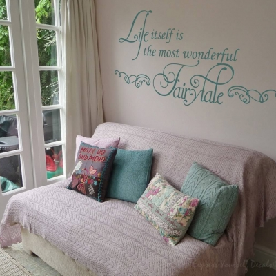 Wonderful fairytale wall decal sticker