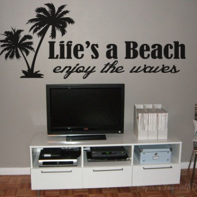 Life's a beach wall art decal