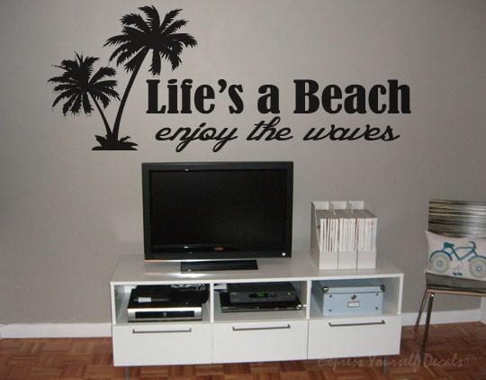 Life's a beach wall art decal