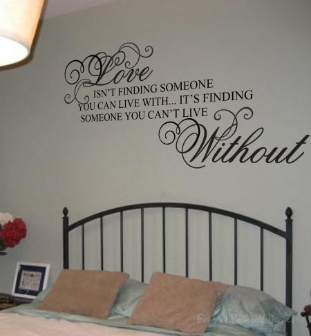 Someone you cant live without wall decal