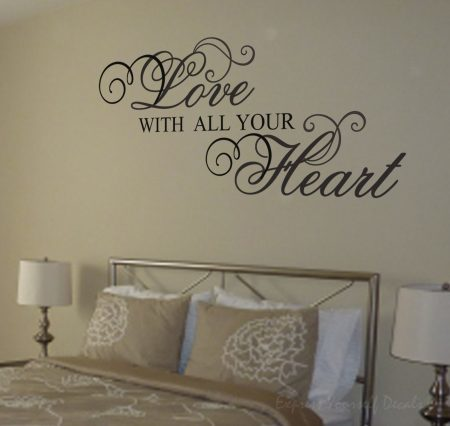 Love with all your heart wall decal