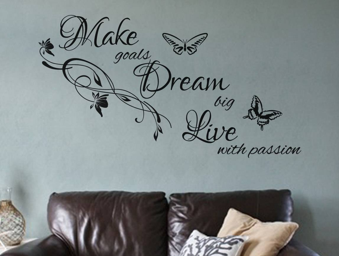 Live with passion wall decal sticker