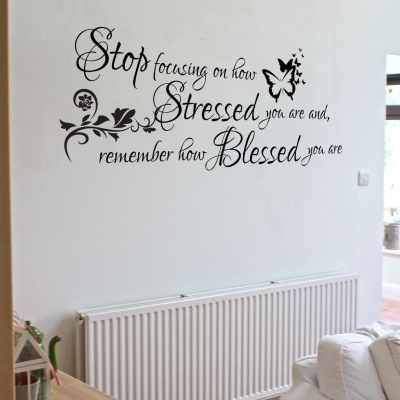 Remember how blessed you are wall decal sticker