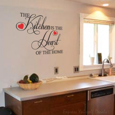 Heart of the Home wall decal sticker