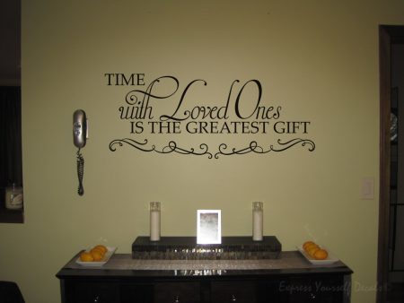 Time with loved ones wall decal sticker