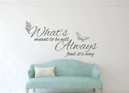 What's meant to be wall decal