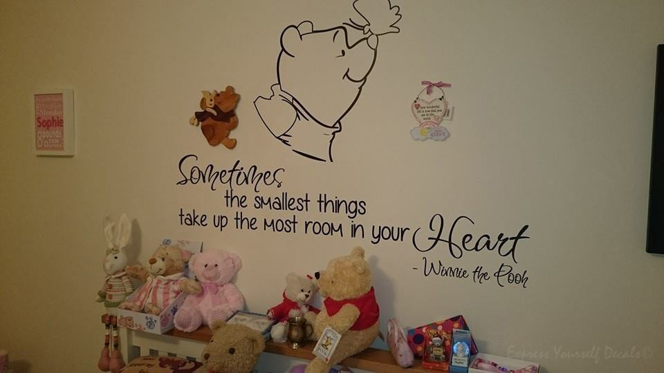 Smallest things wall decal sticker