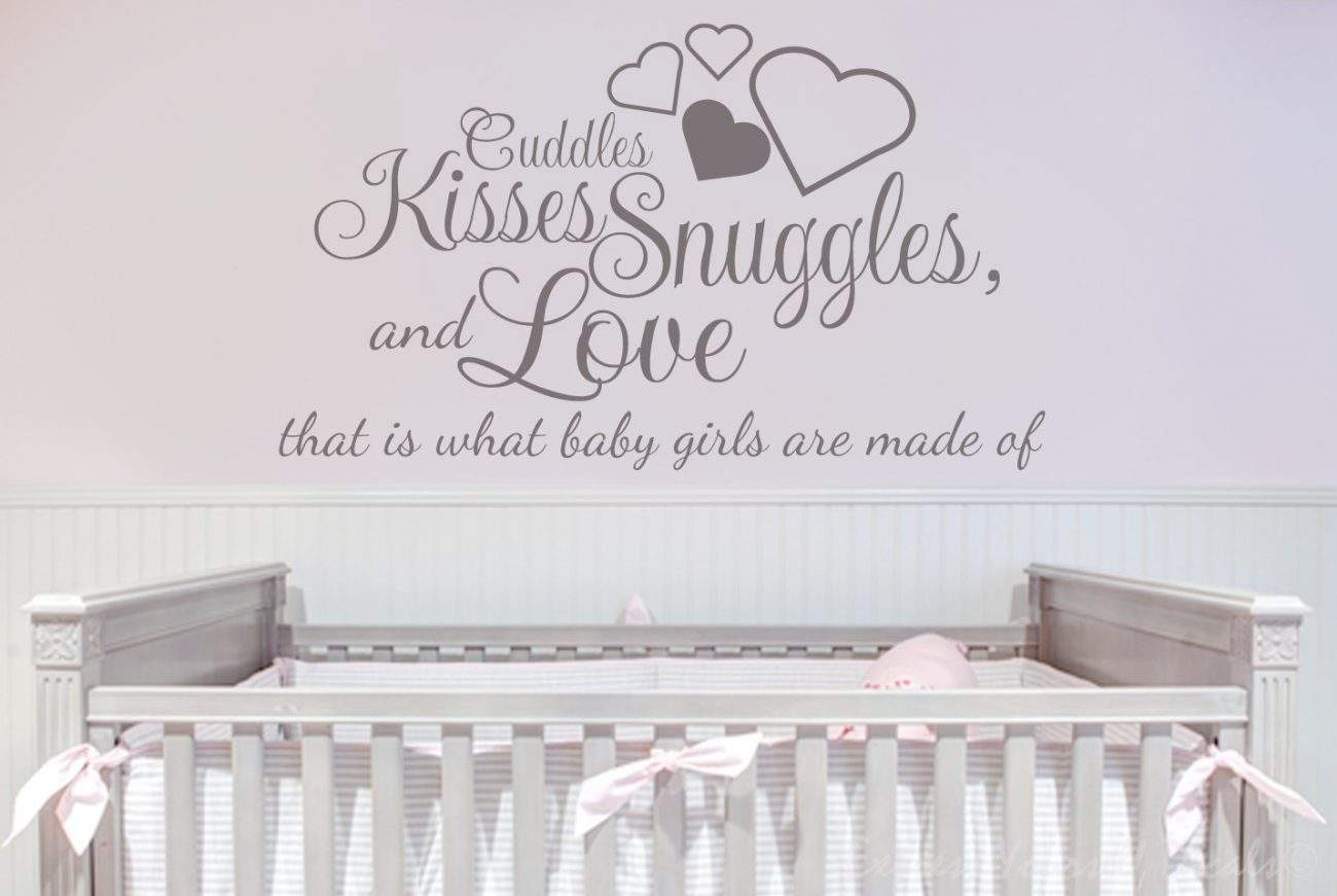 Cuddles Kisses Snuggles and Love wall decal