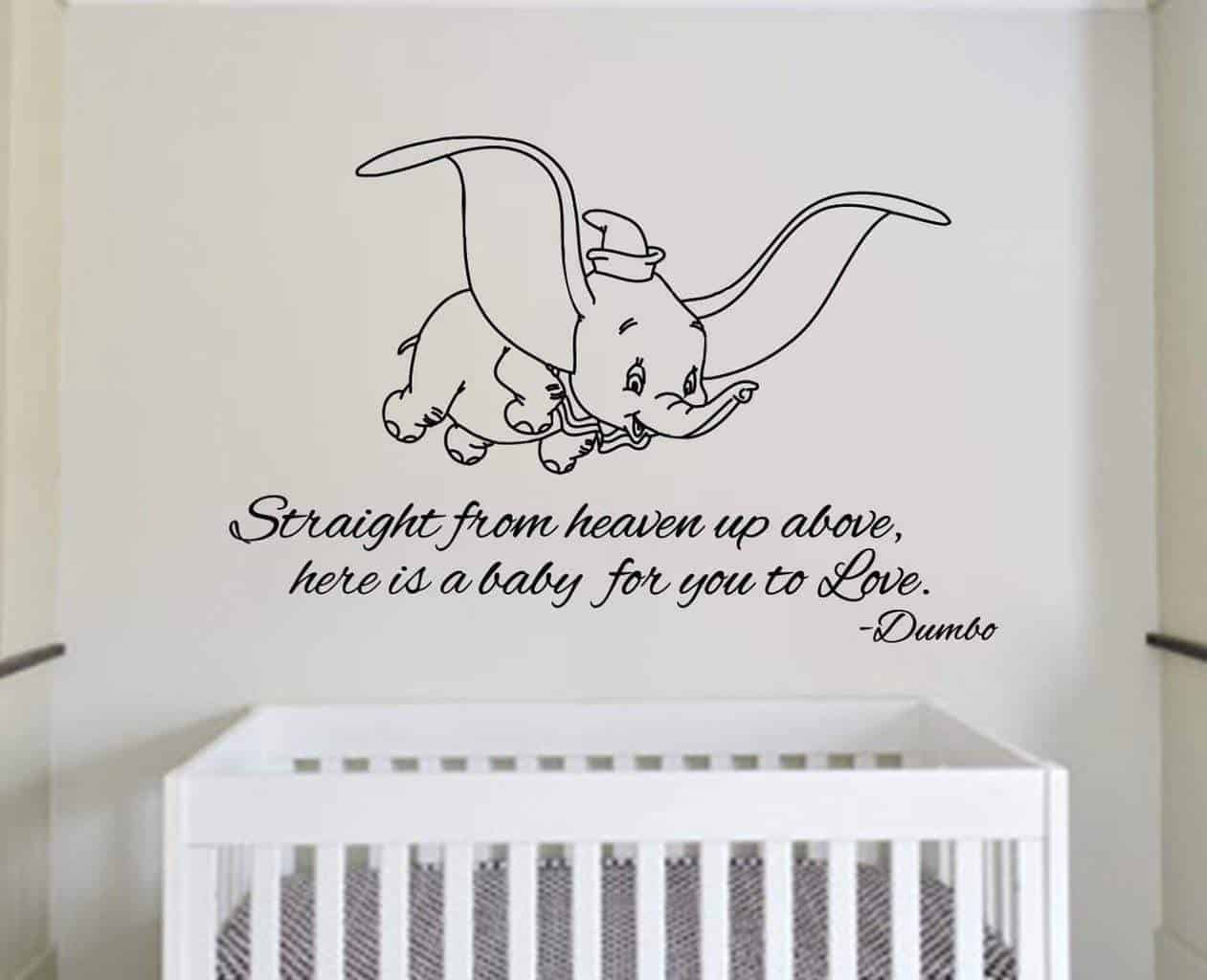 Dumbo - Straight from heaven wall decal sticker