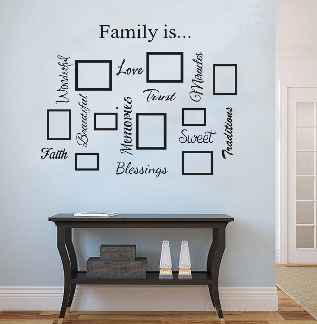 sc 1 st  Express Yourself Decals & Family quote u0026 picture frame gallery wall