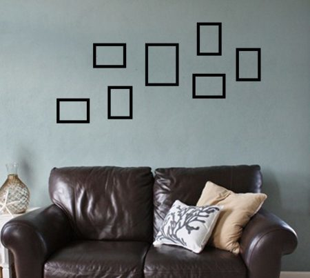 Photo frames wall decal stickers
